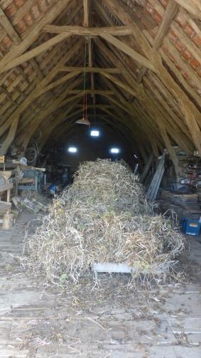 Séchage des pieds entiers dans la grange